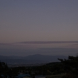 安曇野の夕景